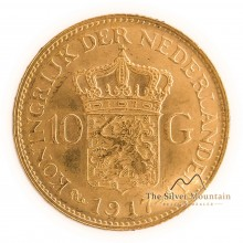 Gold ten guilder coins