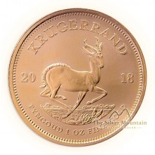 1 troy ounce gold Krugerrand coin 2021