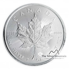 1 troy ounce silver Maple Leaf 2020
