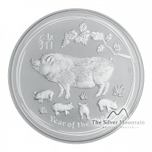 Silver Lunar coin year of the pig - 5 troy ounce 2019