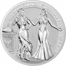 5 Troy ounce silver coin Germania and Italia 2020