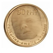 Gold coin 50 Euro The Netherlands 2004