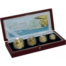 Gold Proof set Britannia coins 2006