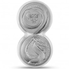 2 x 1 oz silver coin Germania Beast Fafnir 2020 with capsule