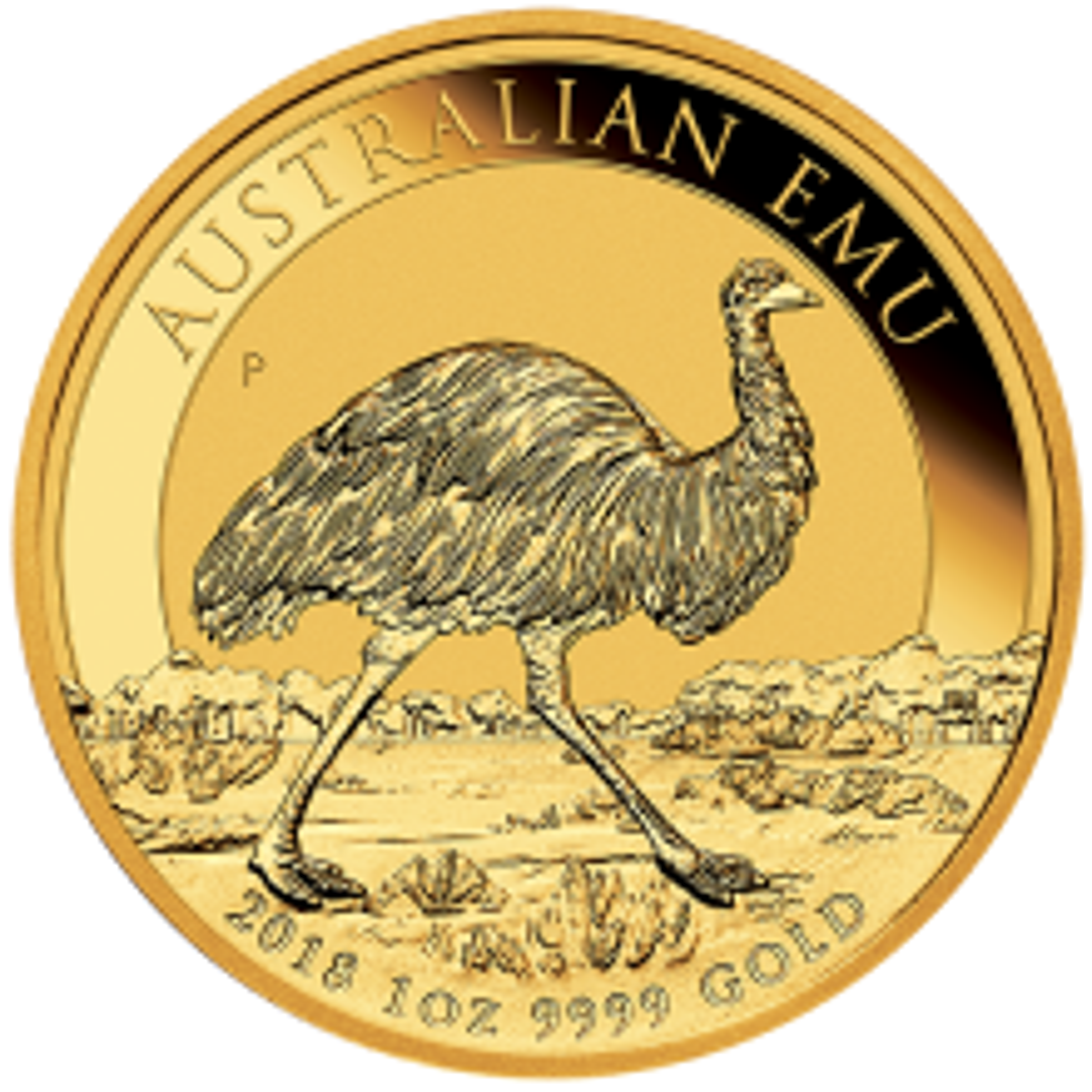 1 Troy ounce gouden munt Emoe 2018