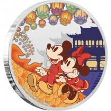 1 Troy ounce silver coin Disney Lunar year of the mouse - luck 2020