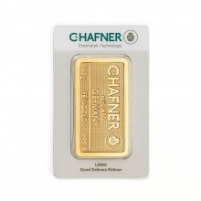 Gold bar 100 grams C. Hafner