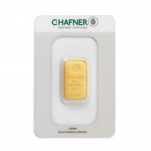 Gold bar 250 grams C. Hafner