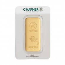 Gold bar 500 grams C. Hafner
