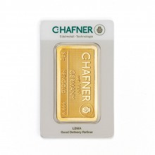 Gold bar 50 grams C. Hafner