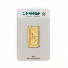 Gold bar 5 grams C. Hafner