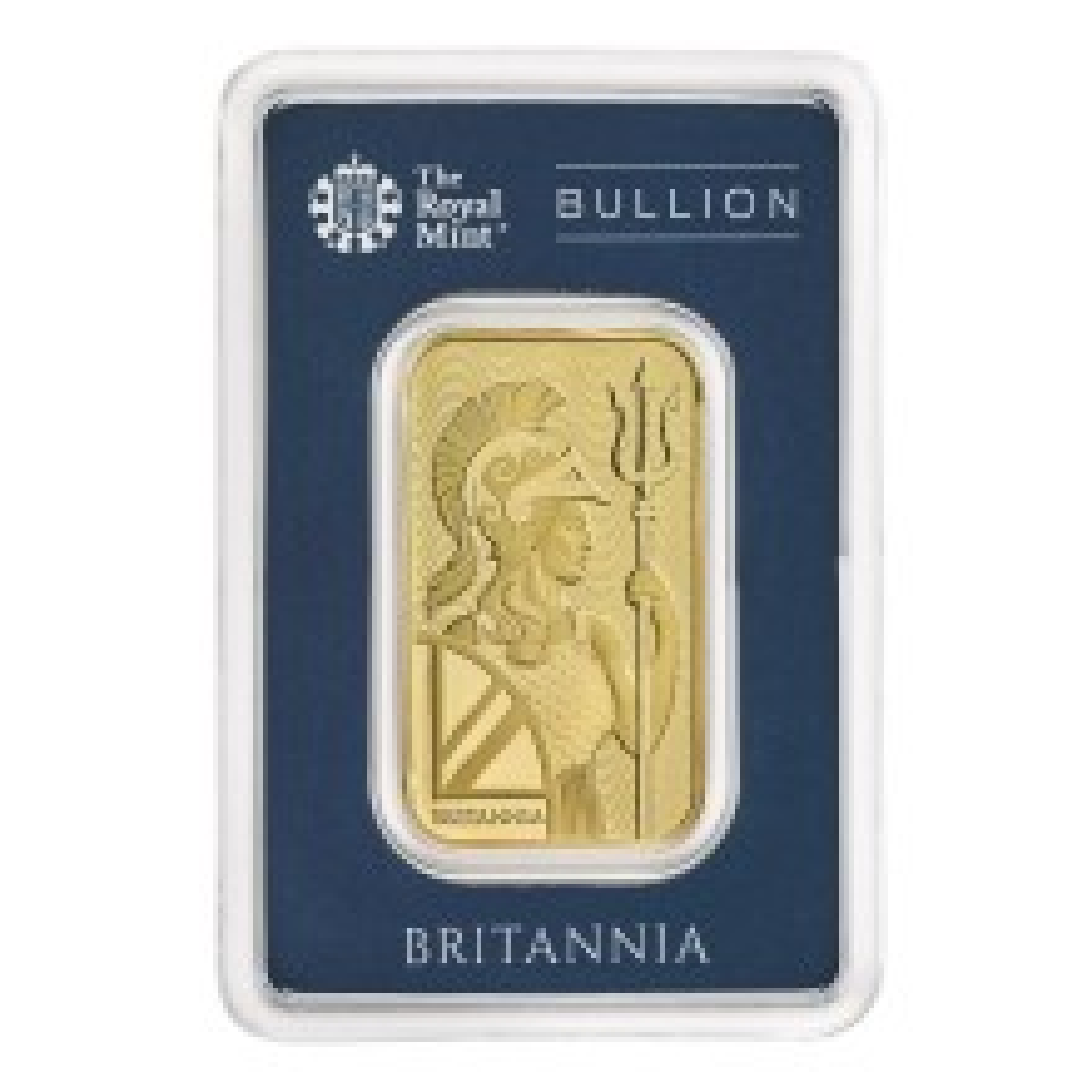 Gold bar 1 troy ounce Britannia Royal Mint