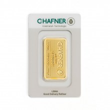 Gold bar 1 troy ounce C. Hafner