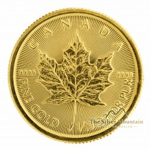 Gold 1/10 troy ounce Maple Leaf coin 2021