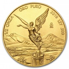 1/2 Troy ounce gold coin Mexican Libertad 2018