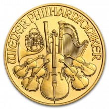 1/4 Troy ounce gold coin Philharmonic