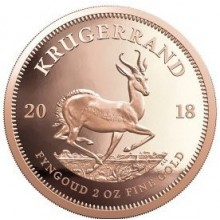 2 Troy ounce gold coin Krugerrand 2018 Proof