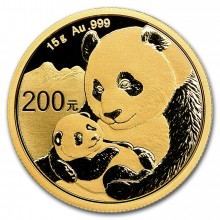 15 Grams gold coin Panda 2019