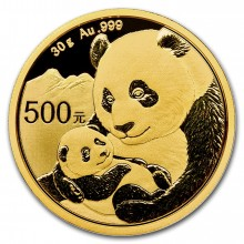 30 Grams gold coin Panda 2019