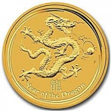 1 Troy ounce gold coin Lunar 2012