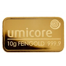 10 Grams goldbar Umicore