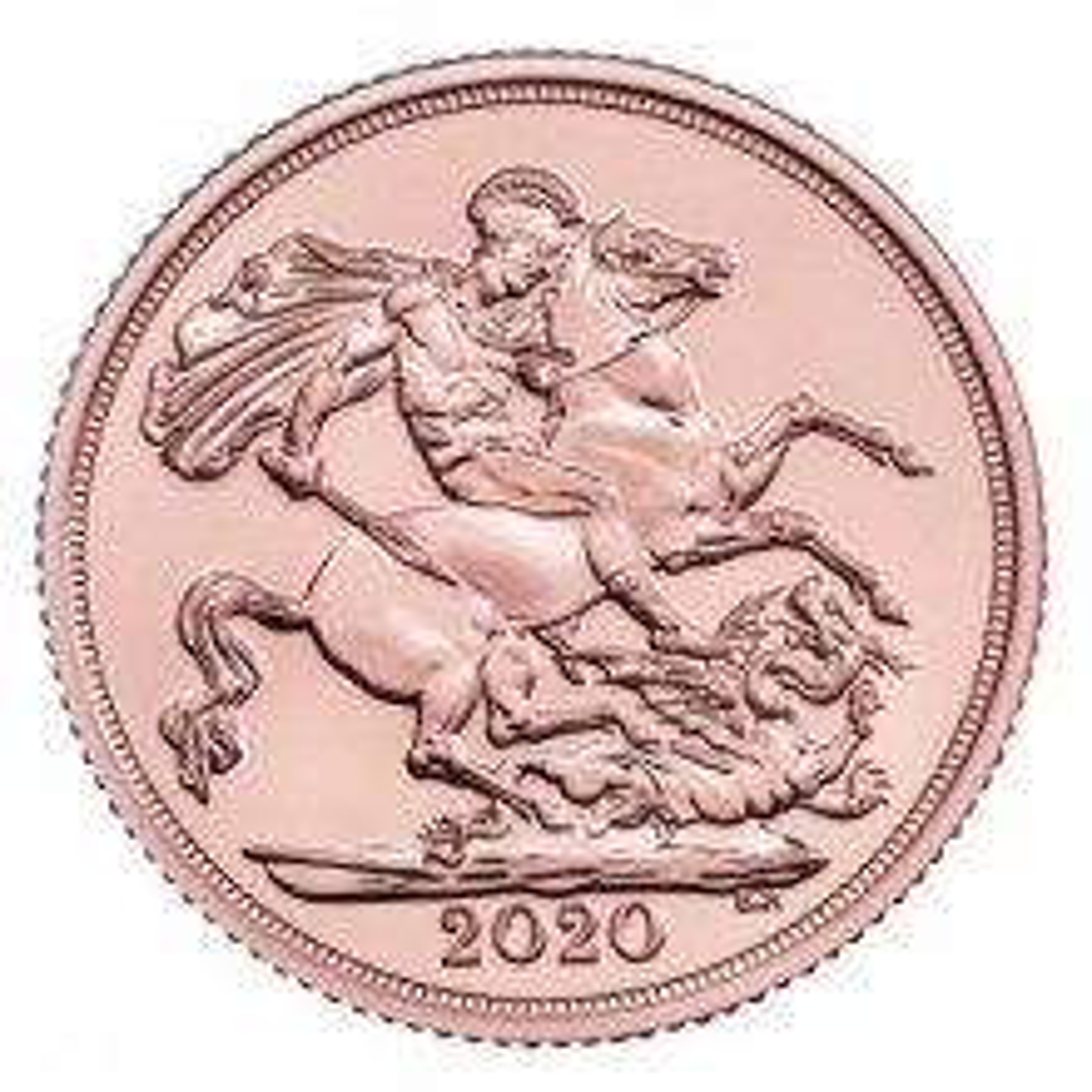 Gouden 2 Sovereign munt 2020