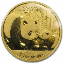 1/2 troy ounce gold Panda coin 2011