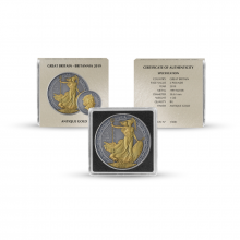 Silver coin set Antique + Gold Finish