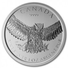 1 troy ounce silver coin Great Horned Owl 2015