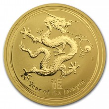 1/2 troy ounce gold Lunar coin 2012 - year of the dragon