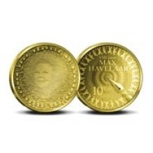 Gold ten guilder coin Max Havelaar - 2010