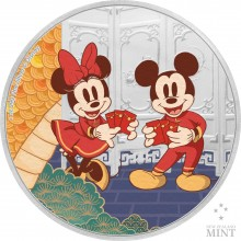 1 Troy ounce silver coin Disney Lunar year of the mouse – Longevity 2020