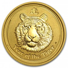 1/2 troy ounce Lunar gold coin 2010 - year of the tiger