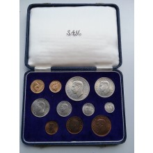 South Africa 11-coin set 1952
