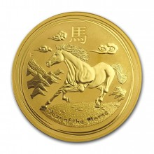1 Troy ounce gold Lunar coin 2014 - year of the horse