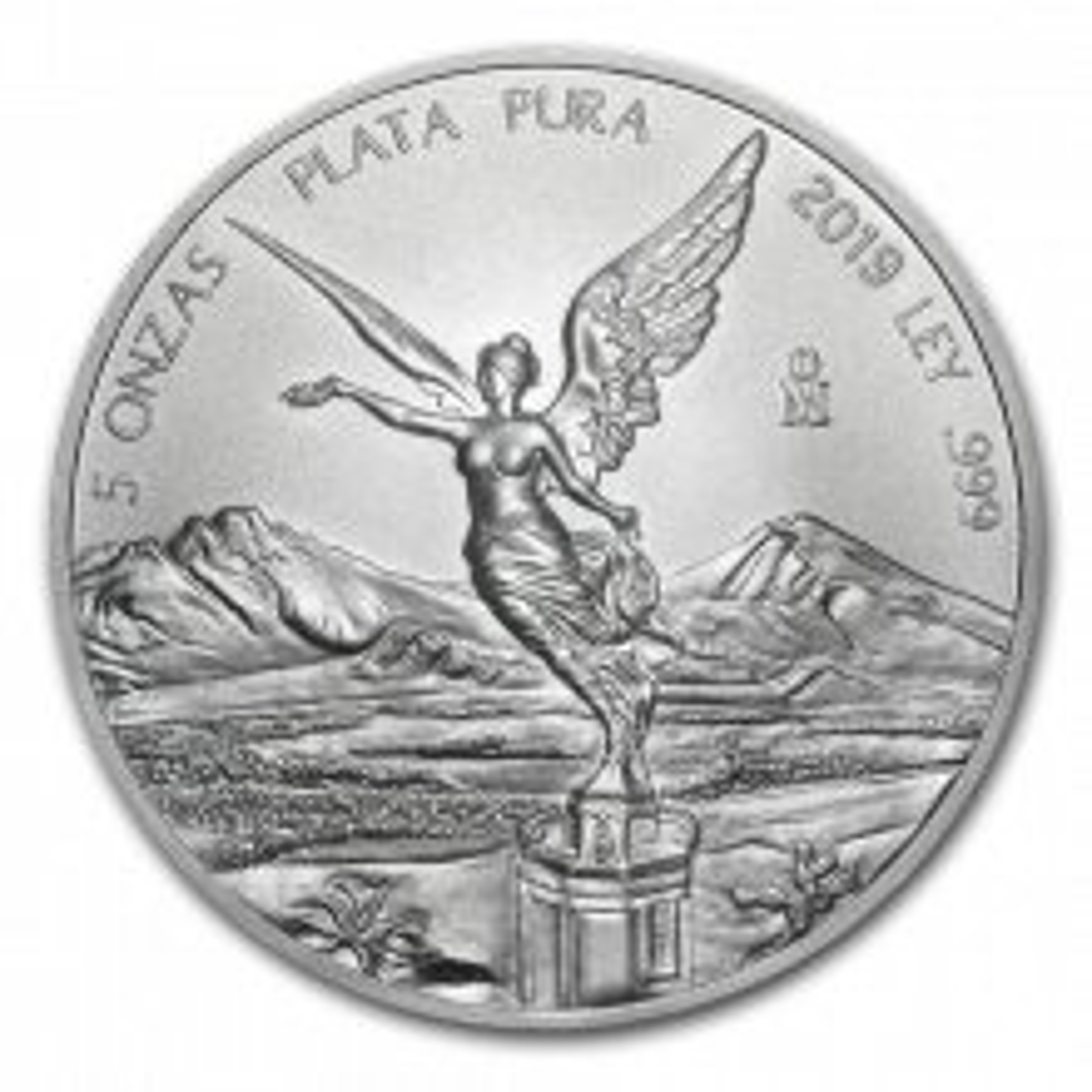 5 Troy ounce silver coin Mexican Libertad 2019