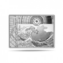 Silver coin Hokusai 2020 Proof
