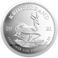 2 troy ounce silver coin Krugerrand 2021 Proof