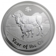 Rare: 1 troy ounce silver coin Lunar Series II - Year of the Ox 2009