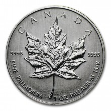 1 Troy ounce palladium Maple Leaf coin