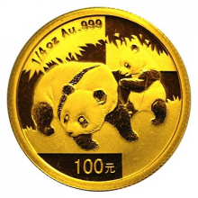 1/4 troy ounce gold Panda coin