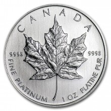 1 Troy ounce platinum coin Maple Leaf