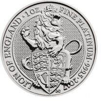 1 Troy ounce platina coin Queens Beasts Lion