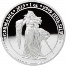 1 Troy ounce silver coin Germania Proof