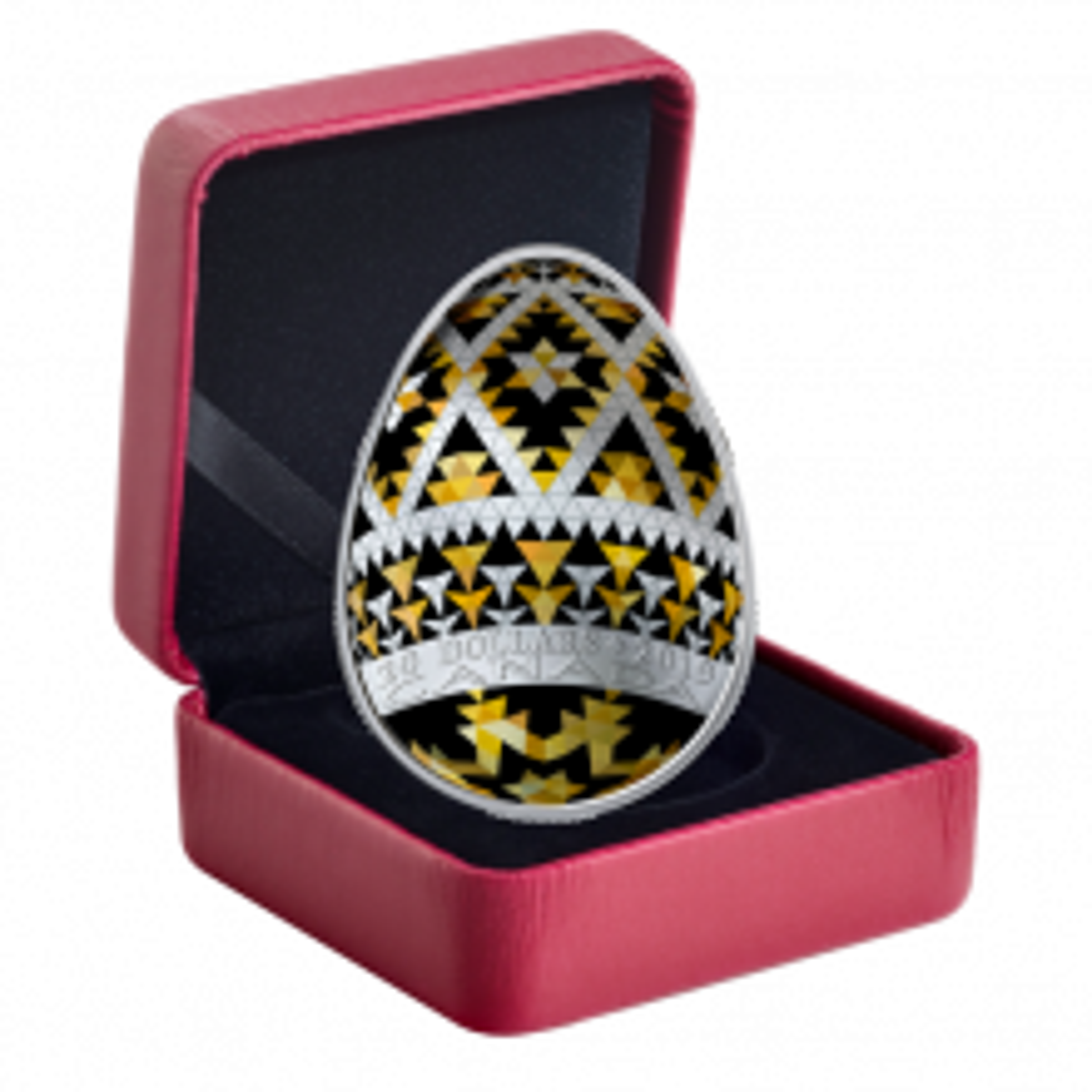 1 Troy ounce silver coin Pysanka Egg 2019 Proof