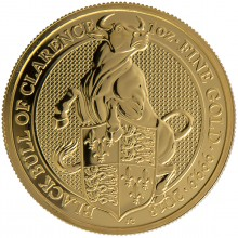 1 Troy ounce gold coin Queen Beasts Black Bull 2018