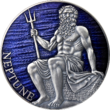 3 troy ounce silver coin Neptune planets and gods series 2021