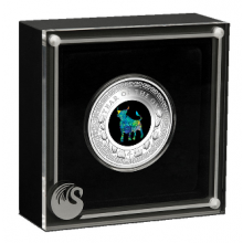 1 troy ounce silver coin Opal Lunar year of the Ox 2021