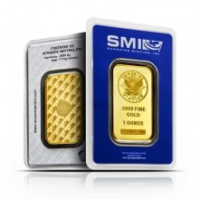1 troy ounce gold bar Sunshine Mint