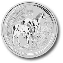 Half troy ounce silver Lunar coin 2014 - year of the horse